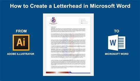 create  letterhead  microsoft word