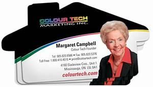 House shaped business cards colour tech marketing inc for Business cards shaped like a house
