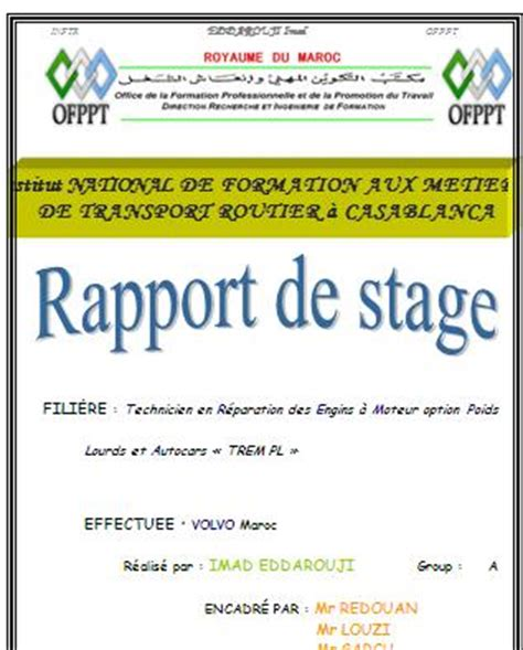 organigramme cuisine collective rapport de stage mecanique auto volvo ofppt rapport de