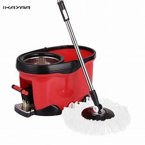 Stainless Steel 360° Spin Magic Mop and Bucket Set Foot ...