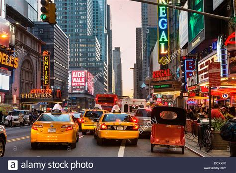 New York City, Traffic On 42nd Street Stock Photo