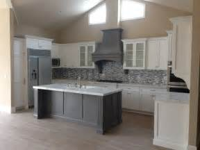 gray kitchen island shaker white kitchen fluted grey island style kitchen los angeles by woodwork