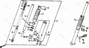 Honda Motorcycle 1979 Oem Parts Diagram For Front Fork