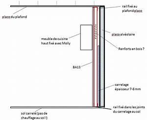 Poser Bloc Porte Entre 2 Murs : r nover mur placo alv olaire partiellement carrel placo ~ Dailycaller-alerts.com Idées de Décoration