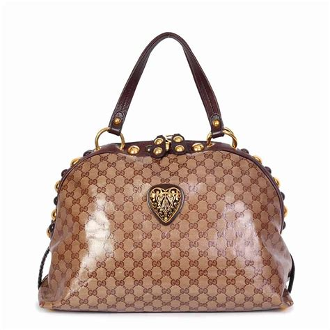 gucci crystal babouska crest dome bag luxity