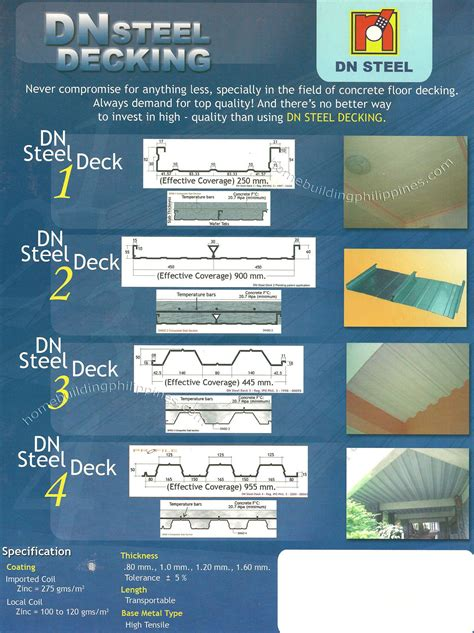 Beautiful Decking by Dn Steel Decking Philippines
