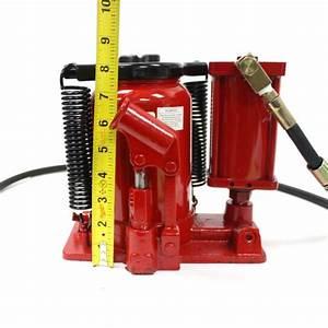 20 Ton Heavy Duty Low Profile Manual Air Hydraulic Bottle