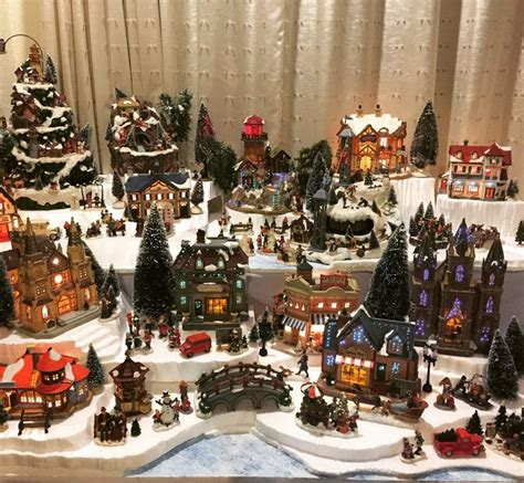 christmas village display    enjoyed