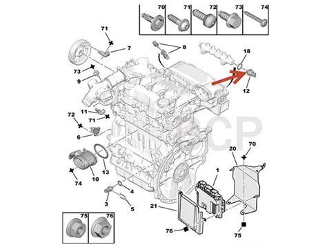 Citroen Fuel Pressure Diagram by Fuel Rail Pressure Sensor Peugeot 107 1007 206 207 307 308