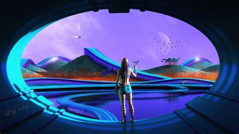 sci fi futuristic life wallpapers hd wallpapers