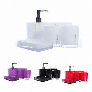 Badezimmer Set Seifenspender : 5 teiliges badezimmer bad wc accessoires set seifenspender zahnputzbecher w z6x6 ebay ~ Whattoseeinmadrid.com Haus und Dekorationen