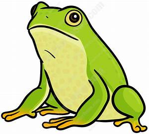 Green Frog Cartoon Clipart - Vector Toons
