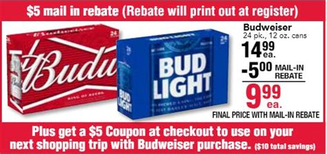 24 pack of bud light cost great budweiser deal at jewel