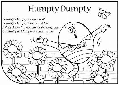 Humpty Dumpty Coloring Clipart Broken Nursery Rhyme
