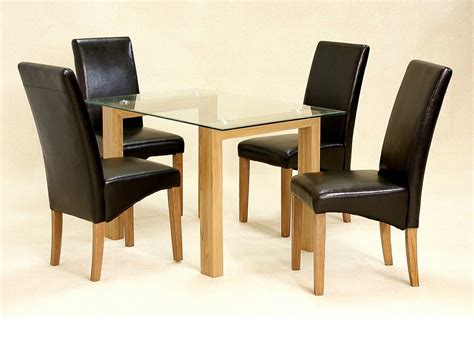 glass table with 4 chairs glass dining table and 4 chairs clear small set oak wood