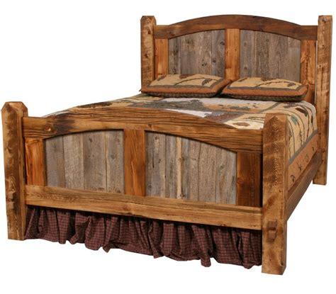 stove prairie barnwood bed lodge bedroom