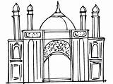 Ramadan Coloring Pages Printable Mosque Masjid Colouring Islamic Eid Activity Studies Creative Activities Coloringpages4kidz Worship Kid Children Drawing Projects Getcolorings sketch template