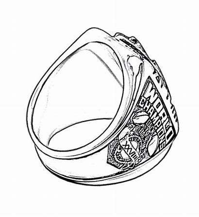 Bowl Super Ring Coloring Rings Pages Drawing
