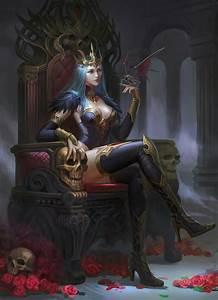 artwork skull throne sitting