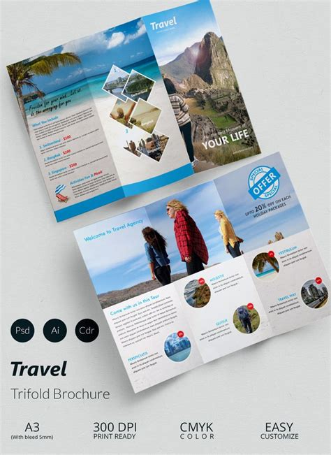 Tourist Brochure Template Free Download by 150 Best Tourism Travel Layout Images On Pinterest Flyer
