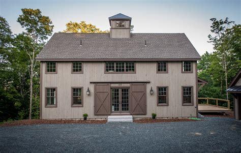 boston yankee barn homes exterior farmhouse with windows blue doors grey shingle roof