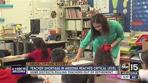 Arizona teacher shortage at critical level - YouTube