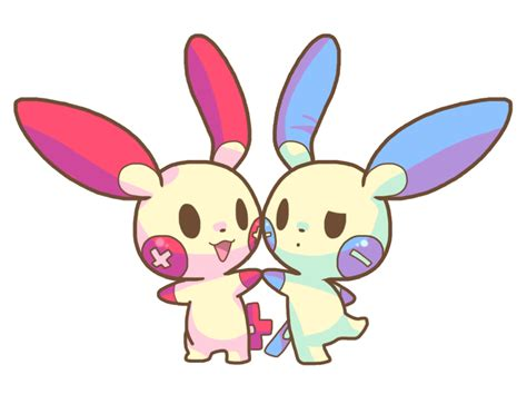 Plusle And Minun By Celestialgalaxies On Deviantart