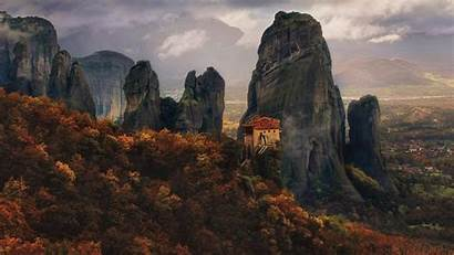 Meteora Greece 4k Monastery Wallpapers Ultra Backiee