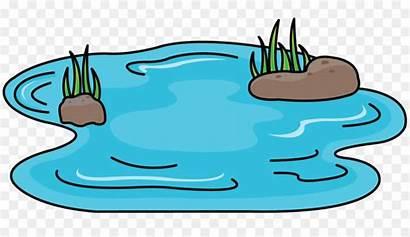 Pond Cartoon Clipart Ponds Kolam Drawing Kartun