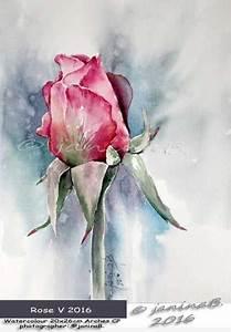 Aquarell Malen Blumen : rose v 2016 watercolour 20x26cm arches cp janinab ~ Articles-book.com Haus und Dekorationen