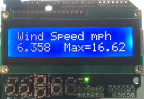diy arduino wind speed meter anemometer project geeky