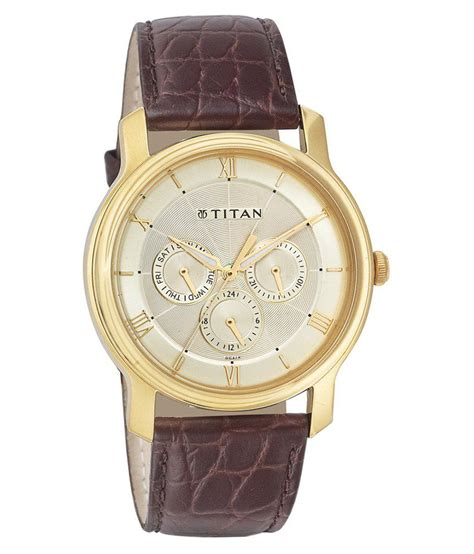 titan classique gold nf1618yl01 analog watch buy titan