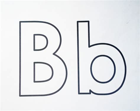 Black And White Clipart Design Letter B