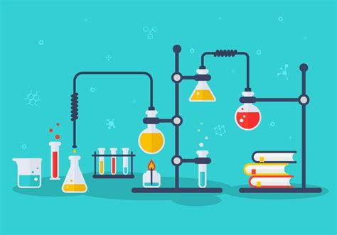 Chemistry Lab Vector Illustration