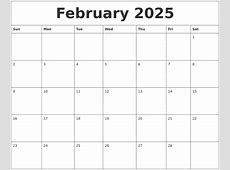 February 2025 Calendar Pages