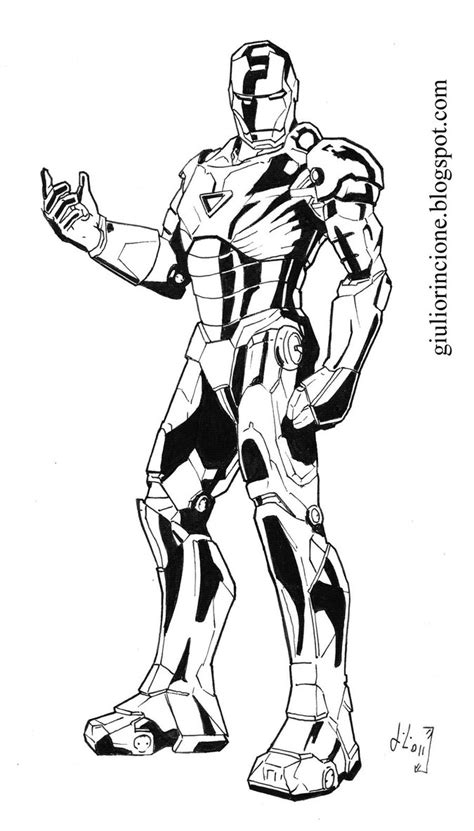 coloriages  imprimer iron man numero