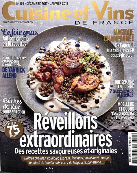 cuisine et vins de abonnement abonnement cuisine et vins de abonnement magazine