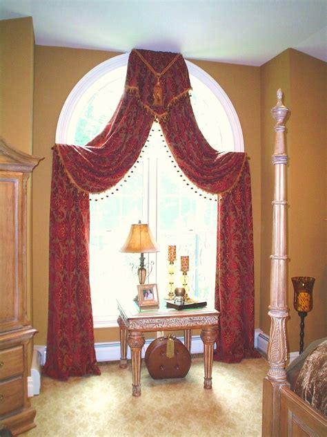 arched window treatment window treatments drama pinterest