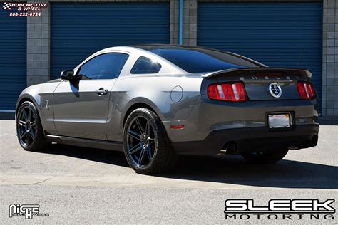 ford mustang niche lucerne  wheels black chrome