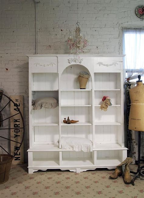shabby chic bookcase white painted cottage chic shabby white handmade bookcase display