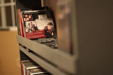 Dvd Closet Storage by White Closet Door And Dvd Storage Diy Projects