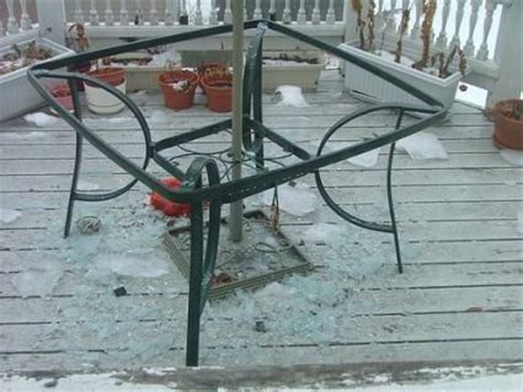 broken glass patio tables glass replacement table tops