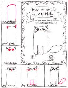 how to draw a cat step by step how to draw a fluffy cat step by step crafting goodness