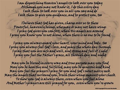 mother  child prayer poem printable angel poem