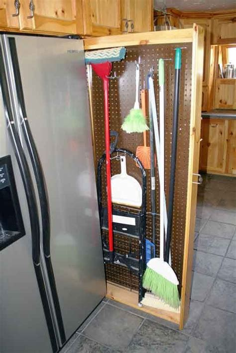 broom closet cabinet home decor