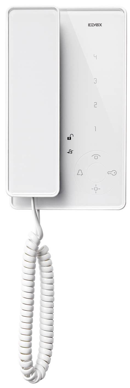serie tab citofono tab con microtelefono bianco 7509