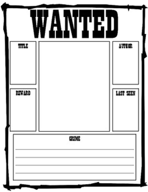 Read Poster Template by Reading Wanted Poster Teaching Writing