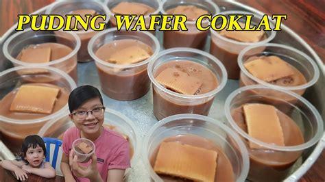 resep puding wafer coklat lembut manisnya pas youtube