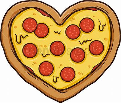 Heart Pizza Cartoon Shaped Clipart Clip Friendlystock