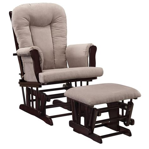 rocking chair and ottoman glider rocking chair and ottoman set in espresso and gray